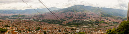 Panorama over Medellin, Colombia. Stock Photo