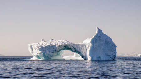 Iceberg drifting in the ocean, Greenland