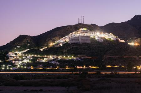 Nightshot of Mojacar Pueblo, Almeria, South Spain