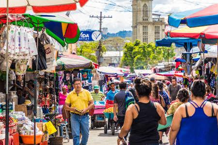 San salvador, el salvador. Enero de 2018. Vista del mercadillo de San Salvador, El Salvador.