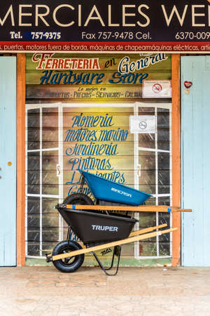 Bocas del toro Panama. March 2018. A view of a typical shop on the island of Bocas del toro in Panama.
