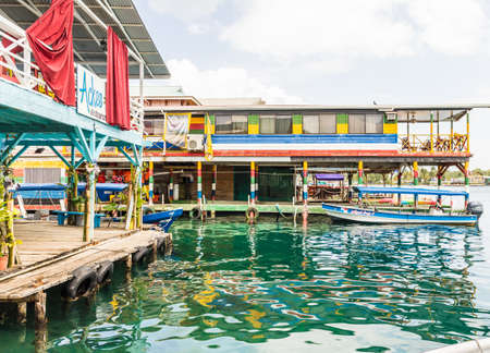 Bocas del toro Panama. March 2018. A view of one tof the boat jettys on the island of Bocas del toro in Panama. Editorial