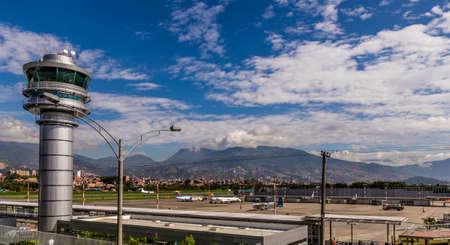 Medellin Colombia. April 2018. A view of Enrique Herrera Olaya Regional airport in Medellin Colombia