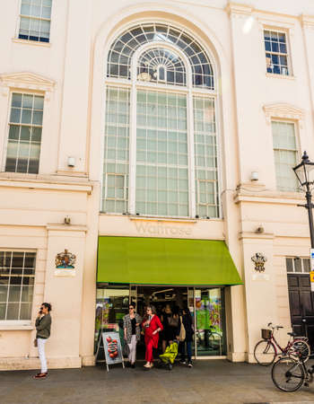 London May 2018. A view of the waitrose store in belgravia London