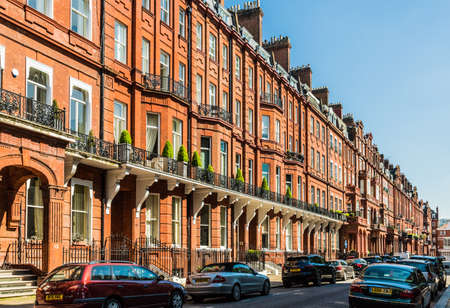 London. May 2018. A view of Affluent and expensive homes in Knightsbridge Lonodnn