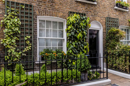 London May 2018. A view of a typical knightsbridge home, in London.