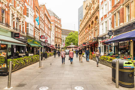 London. June 2018. A view of leicester square in London Редакционное