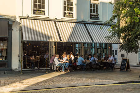 London. August 2018. A view of the Thomas Cubbitt pub in Belgravia in London