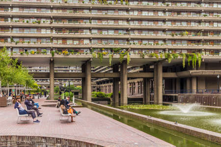 London. June 2018. A view of some of the architecture in the Barbican in london