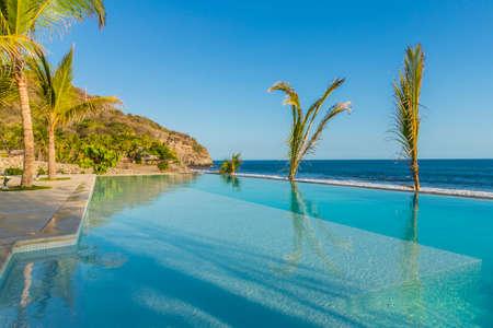 An infinity pool in El Zonte in El Salvador