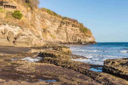 A view of the beach in El Zonte in El Salvador.