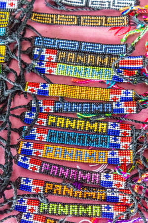 Panama City, Panama. March 2018. A view of souvenirs for sale in Panama City in Panama