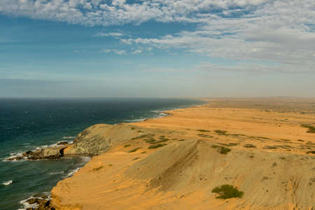 A view from Agua de Ojo viewpoint in Cabo de la Vela in Colombia Stock Photo