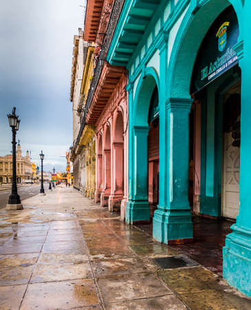 Havana Cuba. january 2018. A view of colourful aged architecture in Havana in Cuba Editorial