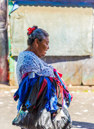 San Salvador. February 2018. A typical view in San Salvador in El Salvador