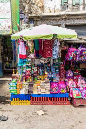 San Salvador. February 2018. A typical street scene in San Salvador in El Salvador