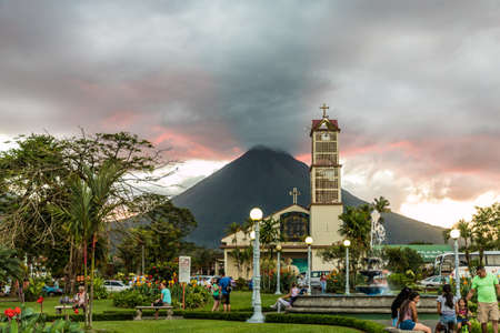La Fortuna Costa Rica. March 2018. A view of Volcano Arenal seen from La Fortuna in Costa Rica.