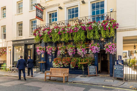 London. September 2018. A view of the Wilton Arms pub in Belgravia in London Editorial