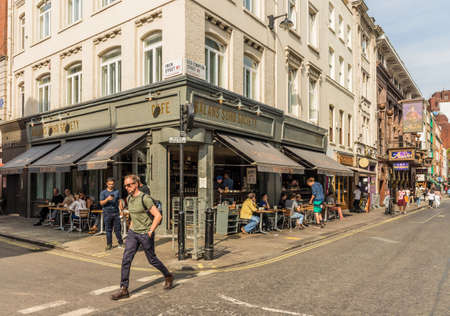London. September 2018. A view of a typical street scene in Soho in London