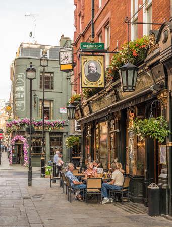 Londres. Septiembre de 2018. Una escena callejera en Covent Garden en Londres