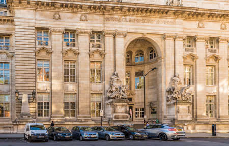 Lodon. September 2018. A view of an ornate entrance to the to the Imperial College of London in London