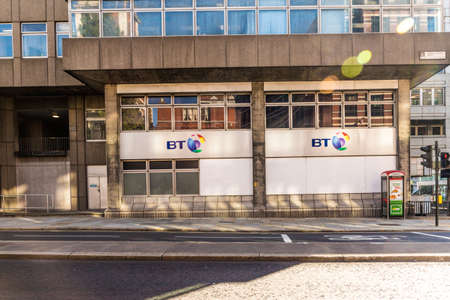 London. October 2018. A view of the outside the BT office in London