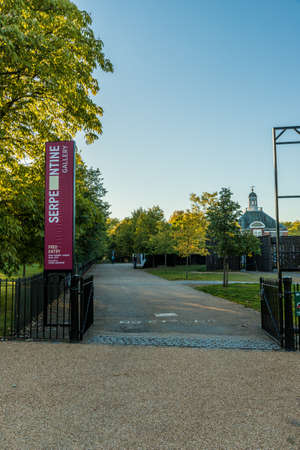 London. 2018. A view of the serpentine gallery in hyde park in London