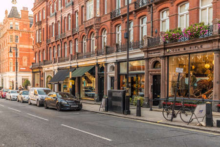 London October 2018. A view of shops on Duke street in Mayfair in London. Editorial