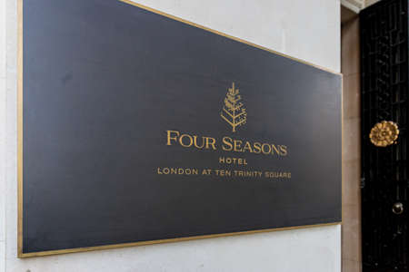 London October 2018. A view of the Four Seasons Hotel at 10 Trinity square in Tower Hill in London