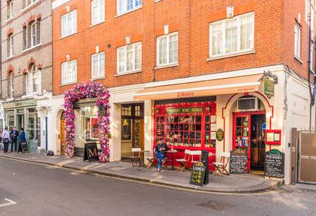 London. November 2018. A street scene in Mayfair in London