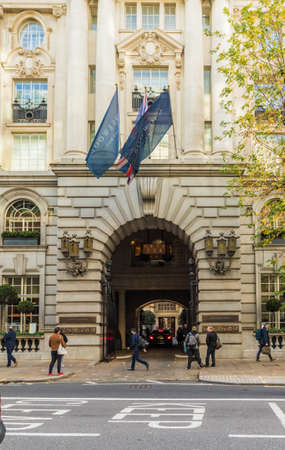 London November 2018. A view of The Rosewood Hotel in London