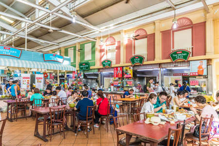 February 2019. Patong Thailand. Food court at The Banzaan food market in Patong Thailand
