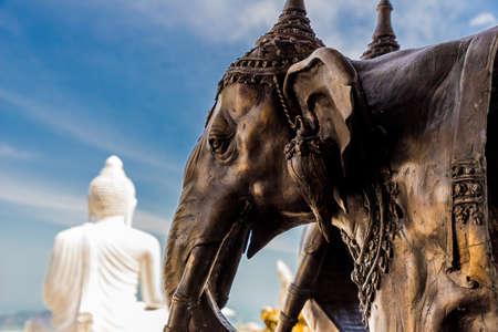 the big buddha statue in Phuket Thailand Stock Photo
