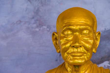 A golden buddha somdetphutthachan yoe at the Big Buddha statue in Phucket Thailand