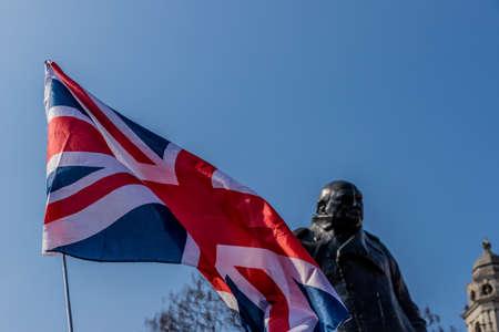Winston churchhill statue in parliament square london