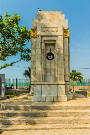 George Town Penang Island Malaysia. March 2019. A view of the cenotaph in George town in Malaysia