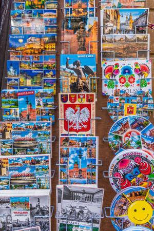 Warsaw Poland. April 2019. A view of souvenirs for sale in Warsaw in Poland Sajtókép