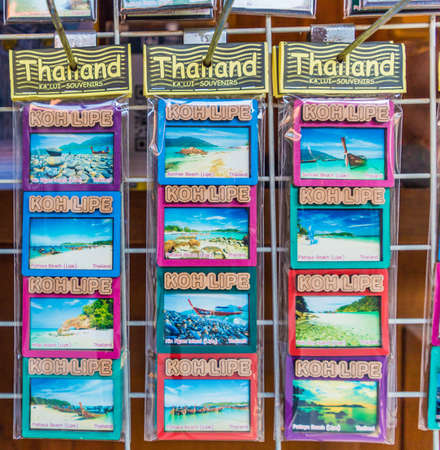 Ko Lipe, Thailand. 19 February 2019. Souvenirs for sale in Ko Lipe Thailand