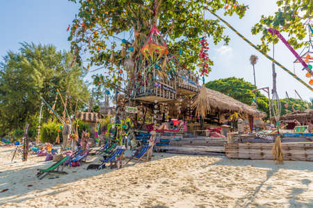 Ko Lipe Thailand. A view of Sea La vie beach bar on Ko Lipe in Thailand