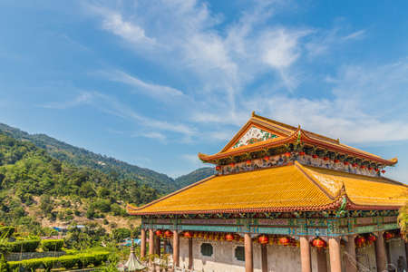 George Town malaysia. March 8 2019. The beautiful tiered roof at Kek Lok si Temple in George Town Malaysia