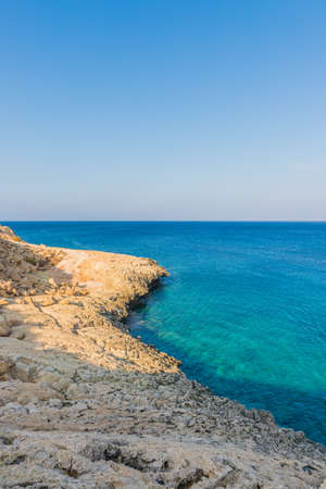 Cape Greco Cyprus. 13 August 2019. A landscape view at Cape Greco in Cyprus 스톡 콘텐츠 - 131955521
