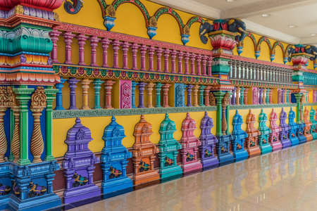 Batu Caves Kuala Lumpur Selangor, Malaysia. March 18 2019. A view of colourful detail at the temple at the Batu caves in Malaysia Stock Photo