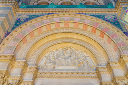 Marseille france. June 22 2019. A view of arch detail at Marseille cathedral also known as Cathedrale La Major in Marseille in France