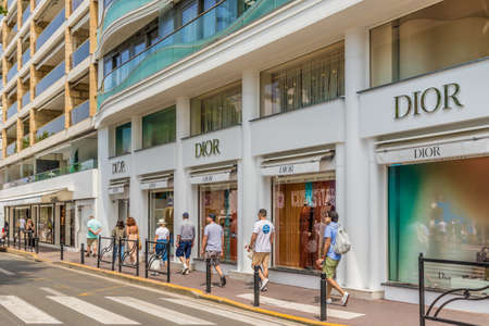 Cannes France. June 15 2019. A view of the Dior shop in Cannes in France