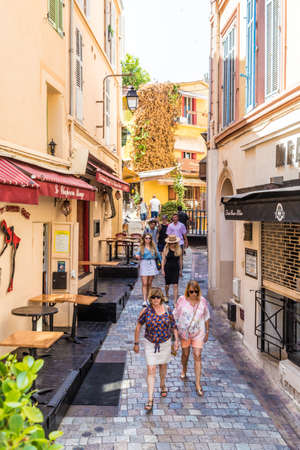 Cannes France. June 15 2019. A street scene in Cannes in France