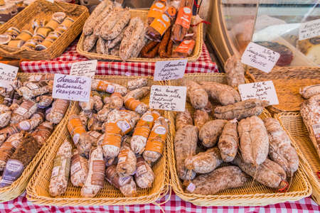 Nice france. June 12 2019. Local produce at Cours Saleya market in Nice France
