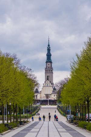 The Jasna Gora Monastery in Czestochowa Poland 免版税图像