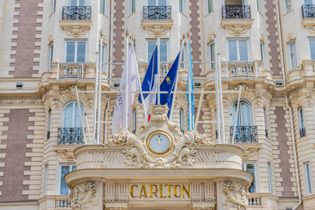 Cannes France. June 15 2019. A view of the Carlton hotel in Cannes in France