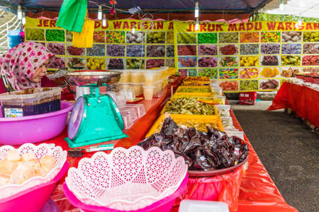 Cameron Highlands Malaysia. March 10 2019. A view of a local sweet market stall at The Kea Farm Market in Cameron Highlands