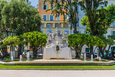 Menton France. 17 June 2019. A view of the Queen Victoria statue in Menton in France